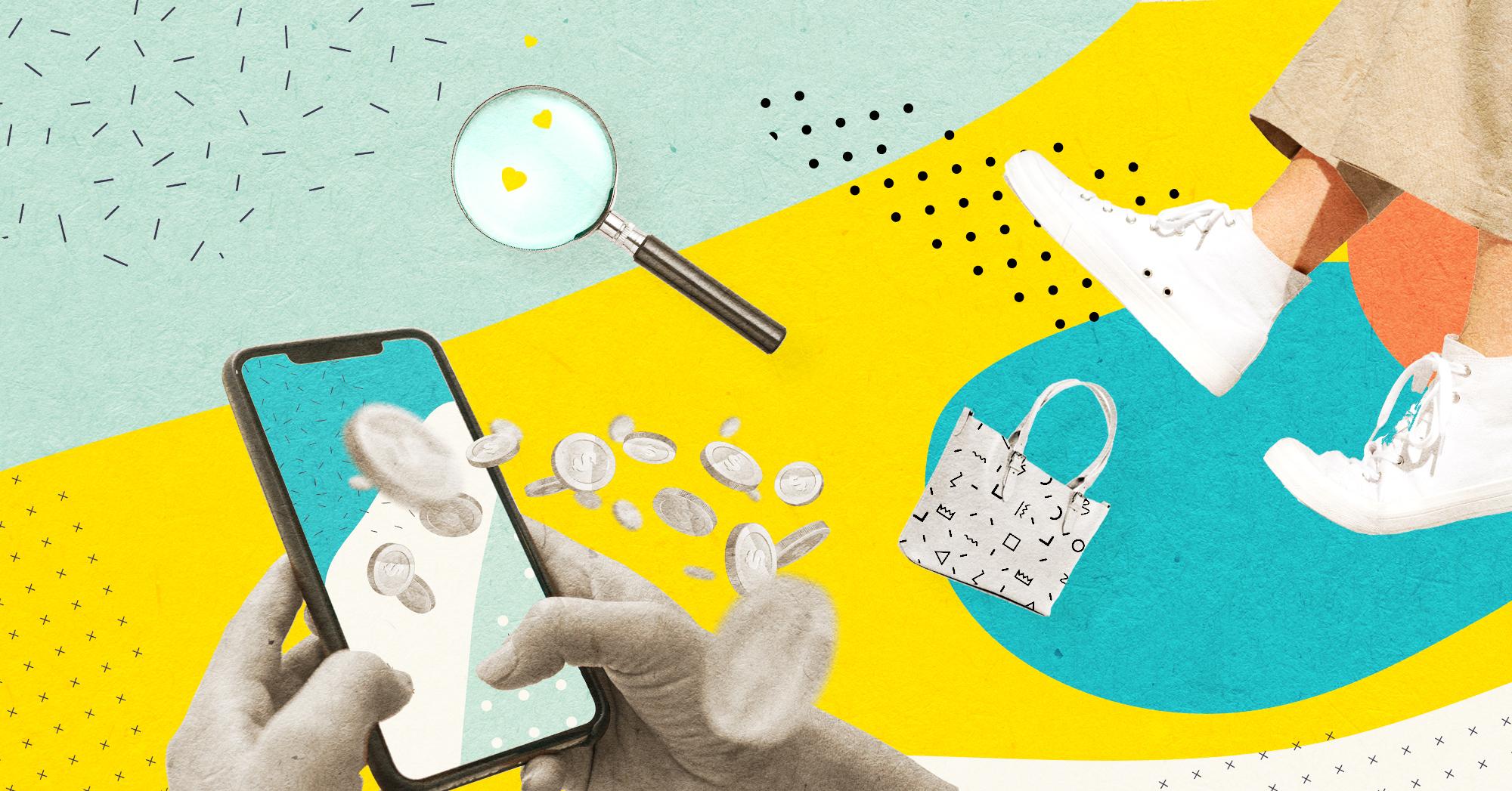 Illustration du social commerce et du social shopping